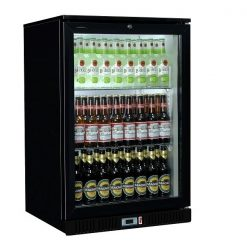 Sterling Pro SP1BC-BK Black Single Door Bottle Cooler