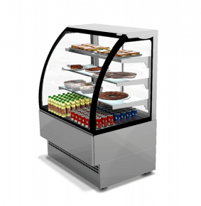 "Sterling Pro Patisserie Serveover Counter ""Evo"" Curved Glass EVO90SS"