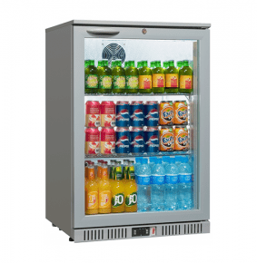Sterling Pro SP1BC-GR Silver Single Door Bottle Cooler