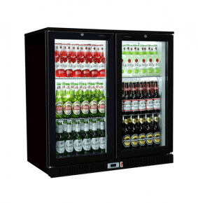 Sterling Pro SP2BC-BH Black Double Hinged Door Bottle Cooler