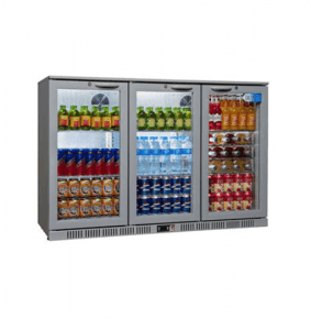 Sterling Pro SP3BC-SH Silver Triple Hinged Door Bottle Cooler