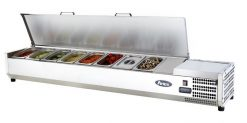 Atosa Stainless Prep Topping Counter Top VRX1800/330-S/SLID