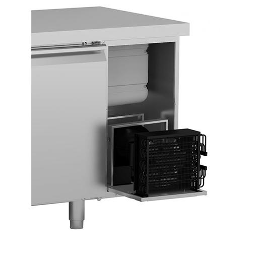 Hoshizaki Snowflake 2 Door GII Refrigerated Counter SCR-130CGRC-LR-C1 1