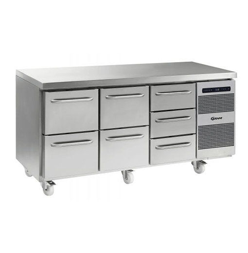 Gram GASTRO K 1807 CSG A 2D 2D 3D C2 Refrigerated counter