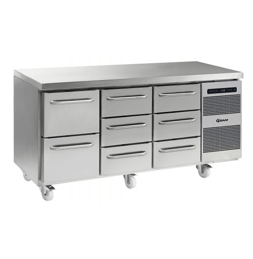 Gram GASTRO K 1807 CSG A 2D 3D 3D C2 Refrigerated counter