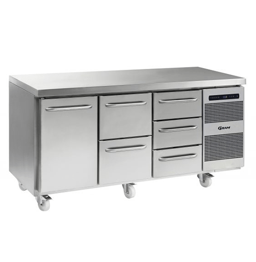 Gram GASTRO K 1807 CSG A DL 2D 3D C2 Refrigerated counter