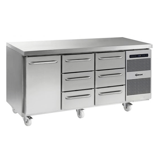 Gram GASTRO K 1807 CSG A DL 3D 3D C2 Refrigerated counter